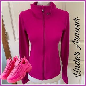 Under Armour size XS all season jacket top pink